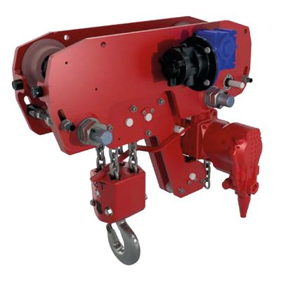 Low Headroom Air Chain Hoist Red Rooster TMH